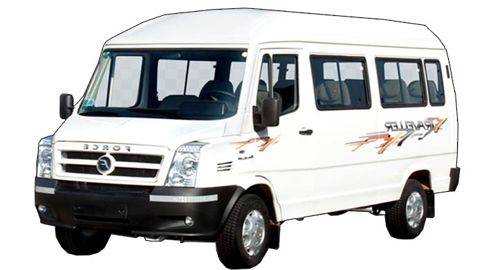 force 12 seater tempo traveller on rent jodhpur